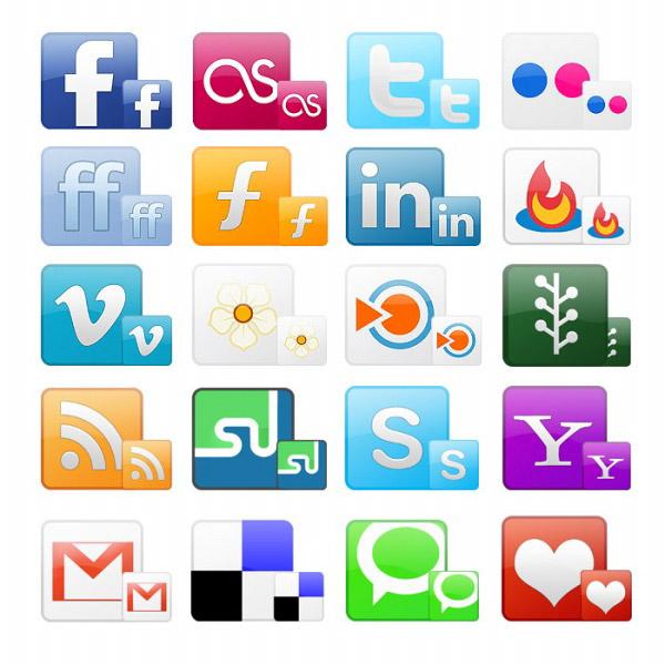 Social Network Icons Free : 2015 素材 : すべての講義