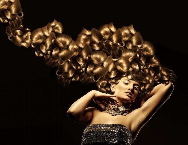 艺术发型美女图片