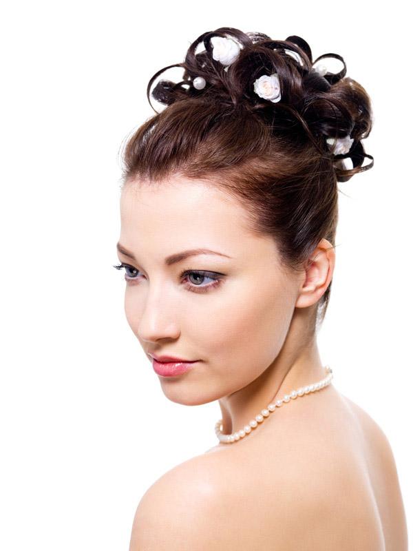 发型雕刻玫瑰图案