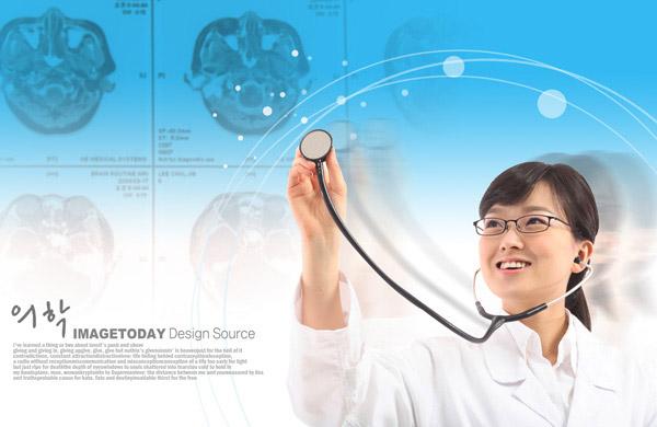 戴听诊器的女医生 素材中国sccnncom