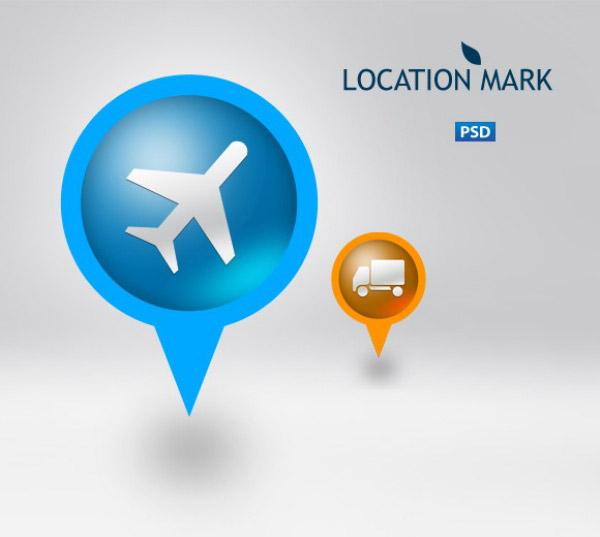 地图指示图标psd素材