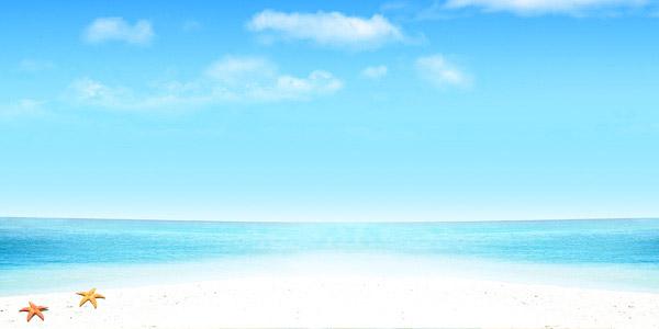 沙滩海水简笔画