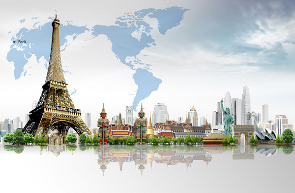 素材,图片,旅游,旅行,地标,建筑物,城市,楼房,大楼,高楼大厦,世界地图