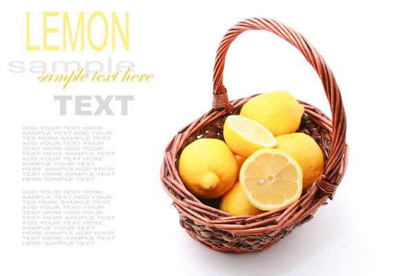 篮子里的柠檬