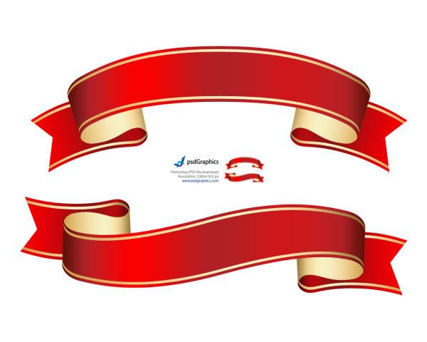 中国风红丝带