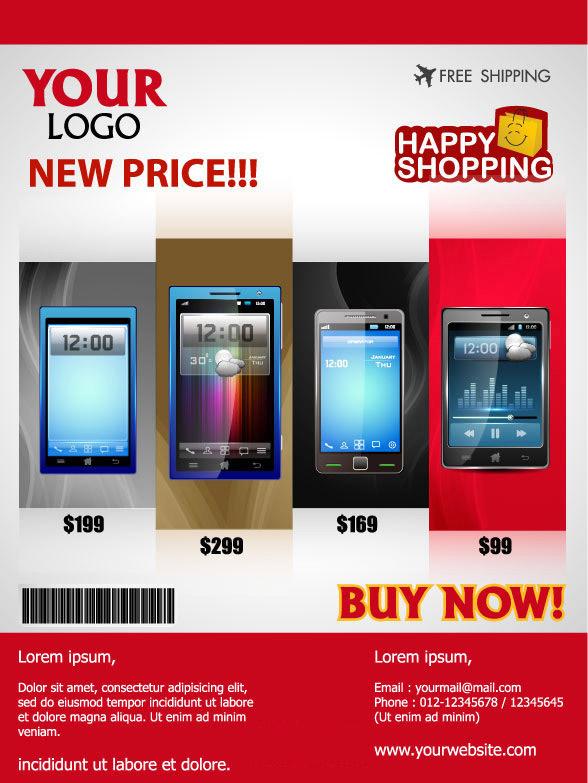 Mobile Phone Posters Leaflets Advertising Design