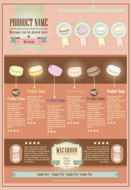 ... labels, stickers, stars, borders, macarons, badges, vector material