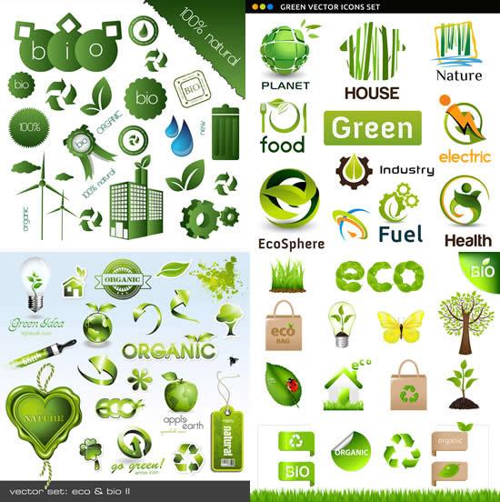 环保绿色图标