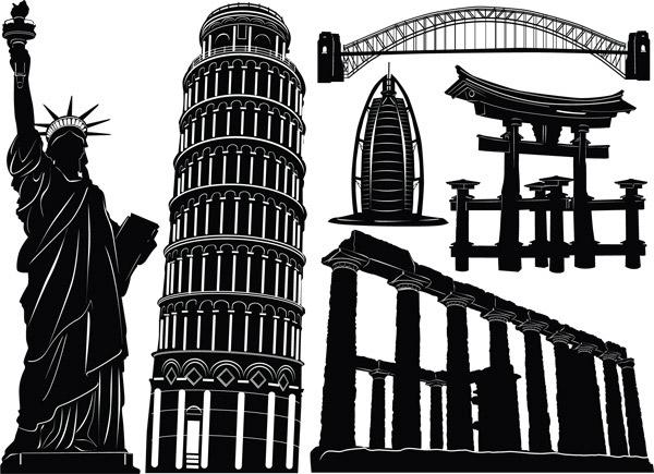 素材分类: 矢量建筑景观所需点数: 0 点 关键词: 欧美国家著名建筑图片