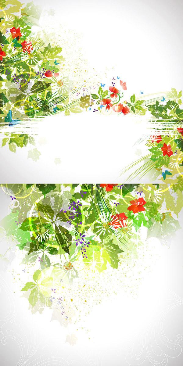 夏季斑驳创意背景图片