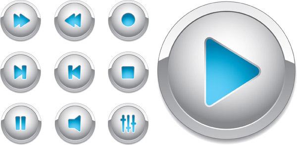 播放器立体按钮_素材中国sccnn.com