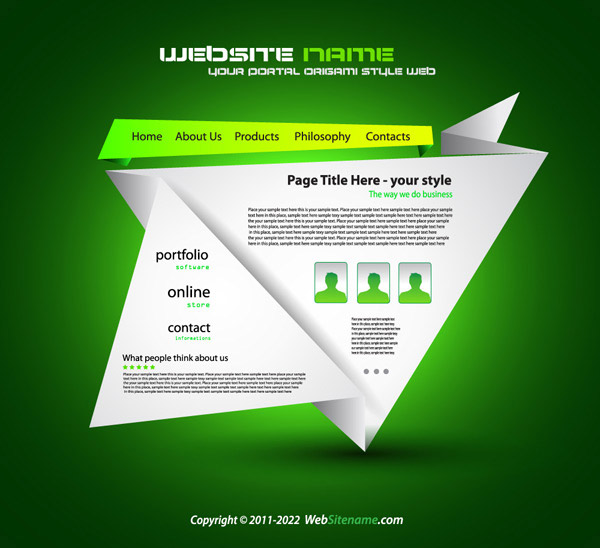 Creative Web page templates | Advertising Design