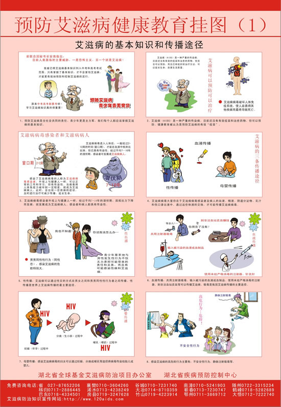 Vector aids aids health education wall charts cartoons illustrations