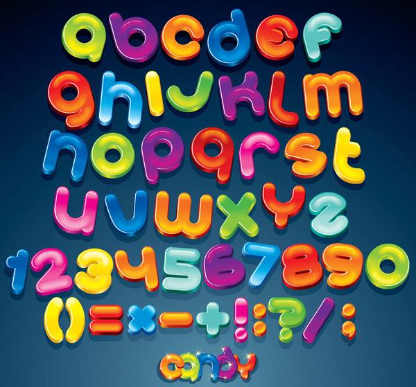 素材分类: 矢量艺术字所需点数: 0 点 关键词: 可爱糖果色英文字母