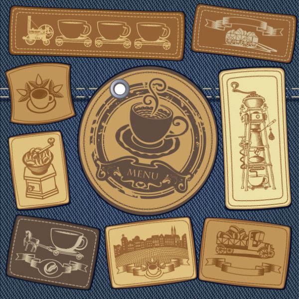 欧式复古咖啡手绘图