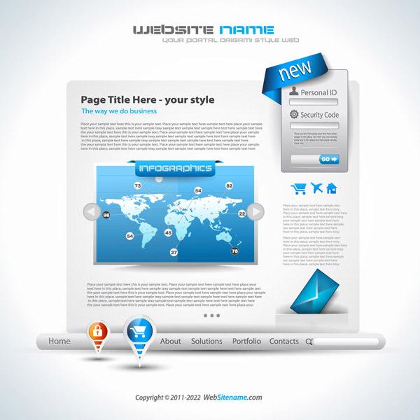 模板矢量素材,个人网页,网页设计,网站设计,网页素材,eps矢量素材下载