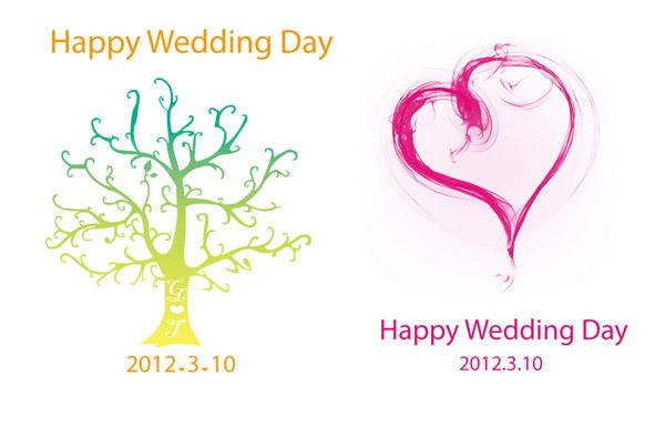 幸福的婚礼卡片_矢量名片卡片 - 素材中国_素材cnn