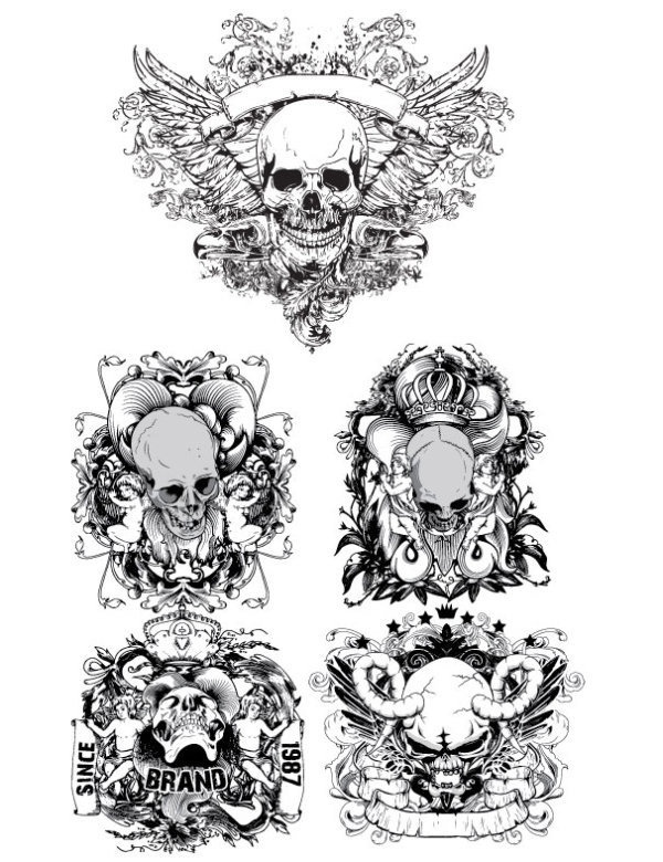 简单骷髅头画法步骤图解