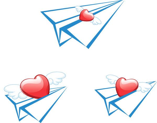 素材分类: 矢量情人节所需点数: 0 点 关键词: 创意纸飞机矢量素材