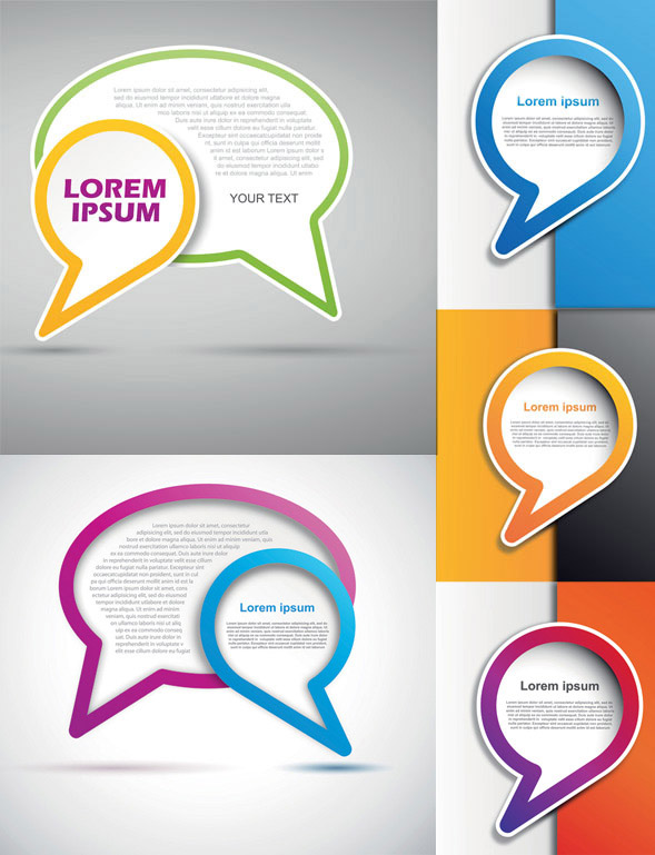 创意气泡对话框