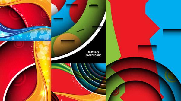 矢量图,设计元素,设计素材,红色,蓝色,绿色,橙色,立体,空间,背景,曲线