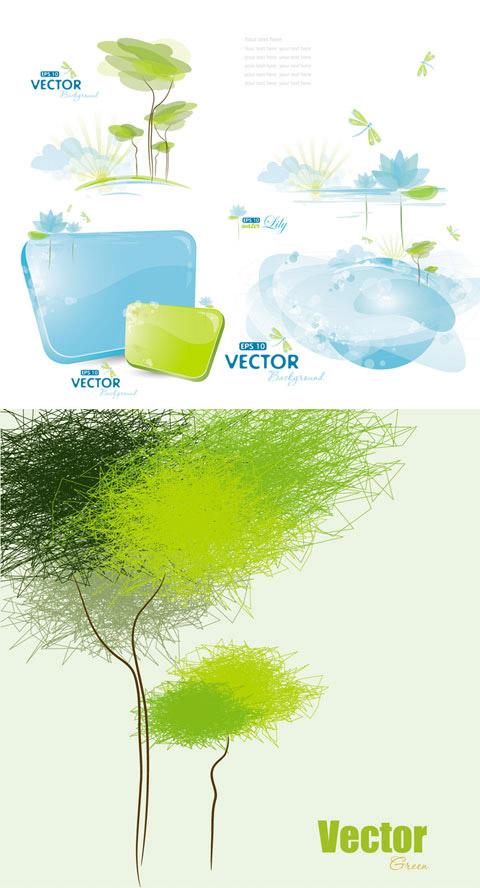 绿色生态抽象图