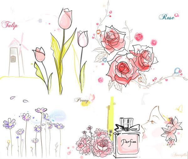 郁金香玫瑰花牡丹