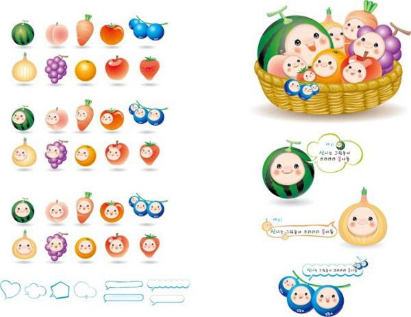 卡通水果_素材中国sccnn.com