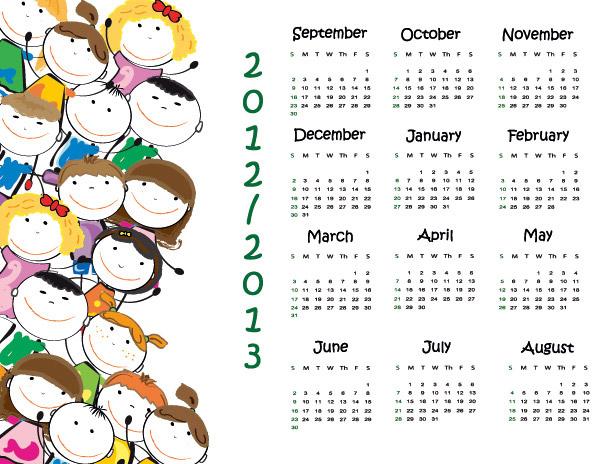 2013卡通日历