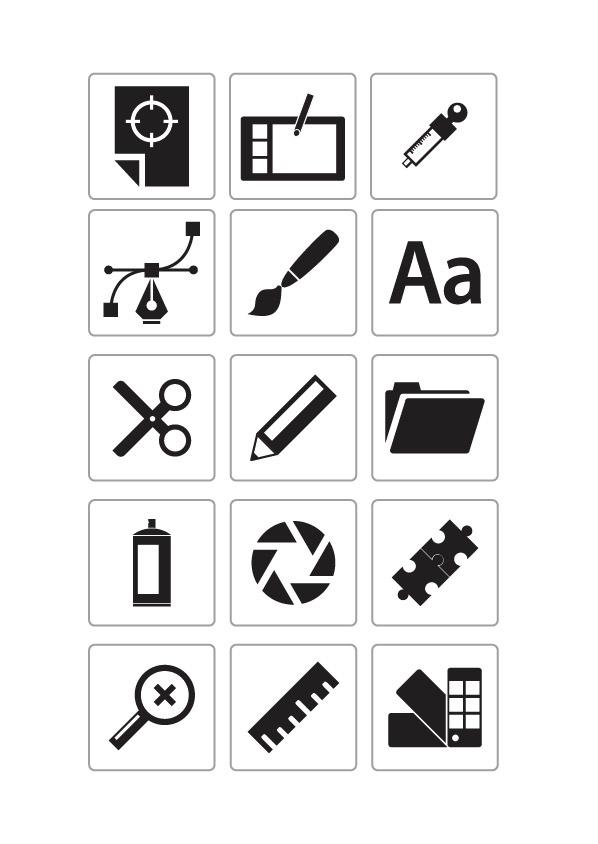 矢量各式图标所需点数: 0 点 关键词: icon,常用图标,设计,图标,图形