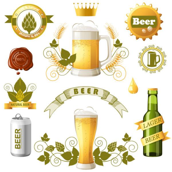 啤酒标签图标