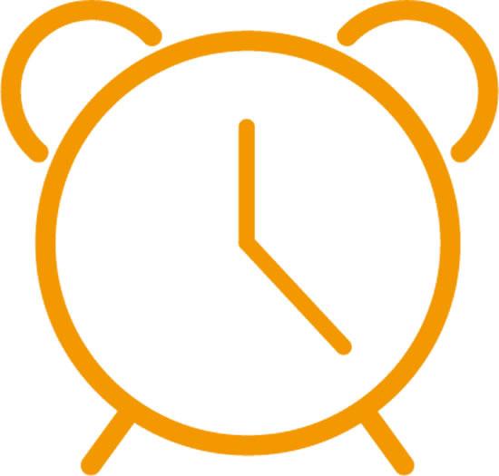 黄色闹钟图标