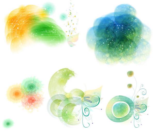 水彩装饰图案_素材中国sccnn.com图片