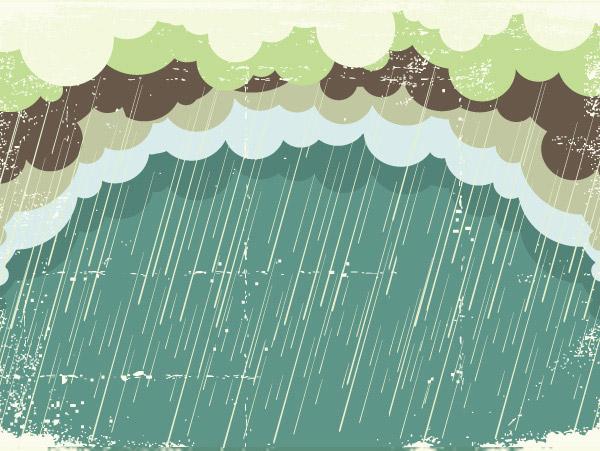 下雨矢量图图片