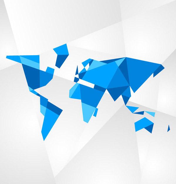 几何形世界地图_素材中国sccnn.com