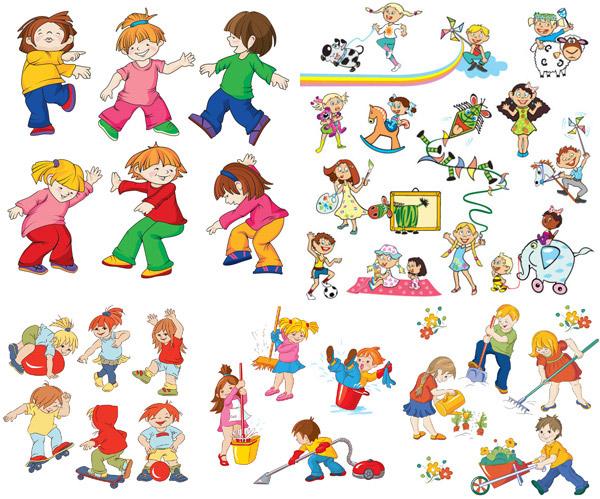 素材分类: 矢量儿童幼儿