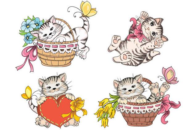 猫咪食物拼豆图纸