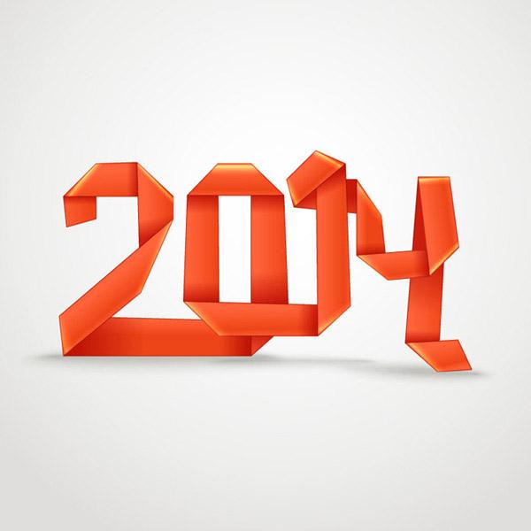 2014折纸字体图片