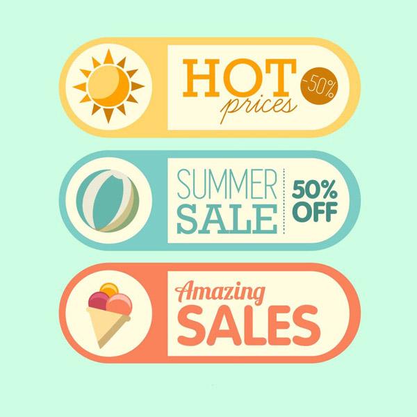 可爱夏日图标设计免费下载,清新,可爱,夏日,图标设计,ai