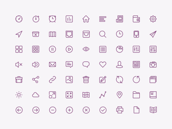 图标所需点数: 0 点 关键词: 线条icon素材,线条,icon,小图标,扁平图片