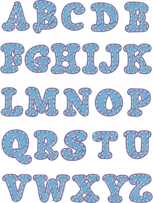 创意英文字母设计矢量素材下载