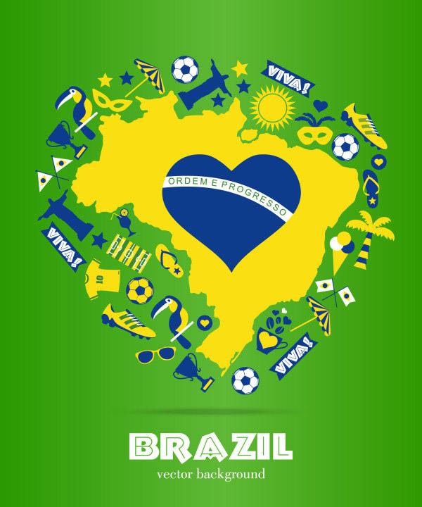 巴西世界杯_矢量体育运动 - 素材中国_素材CN