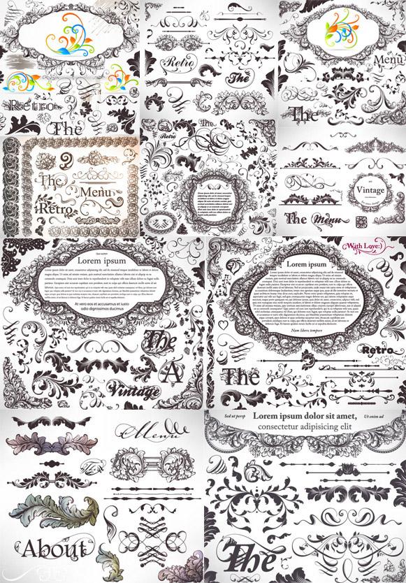 0 点 关键词: 经典花纹花边矢量素材,经典,花纹,花边,边框,纹样,图案