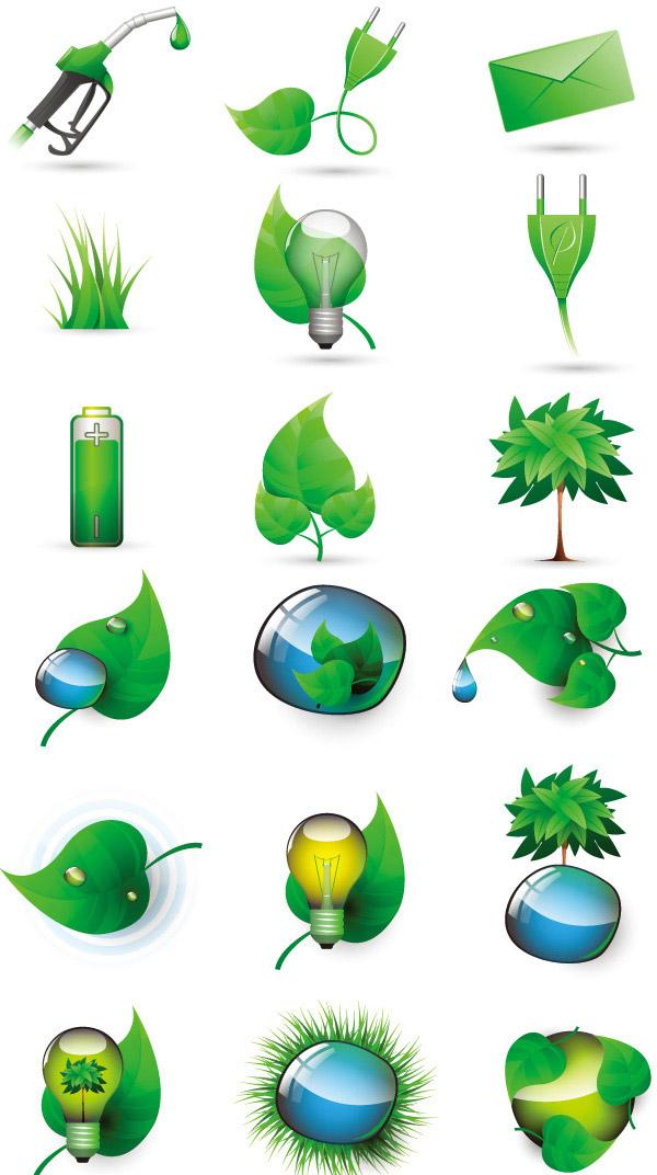 素材 环保 图标/科技环保图标...