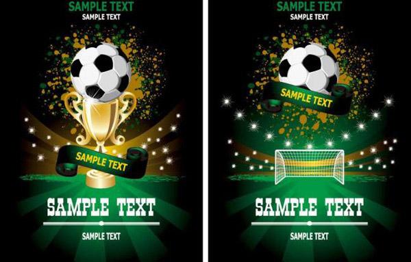 动感光线世界杯足球展板,足球传单,呐喊剪影,世界杯宣传,体育运动图片