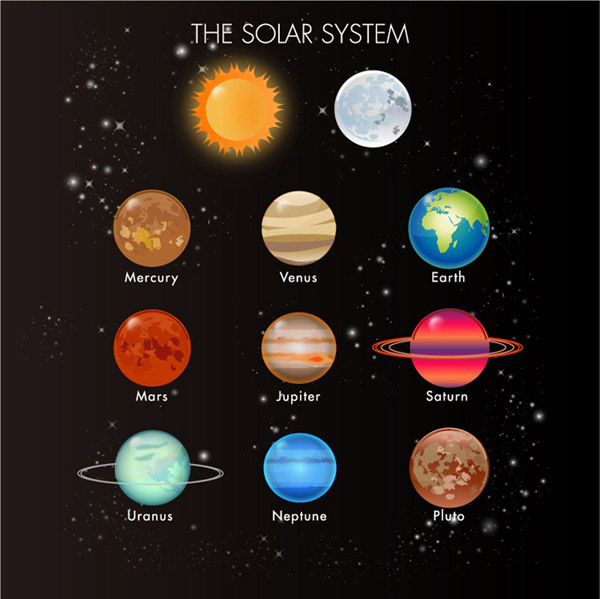 Cartoon Planet Venus Planet in our solar system