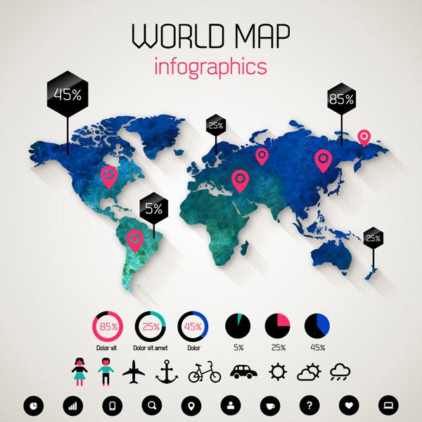 世界地图信息图
