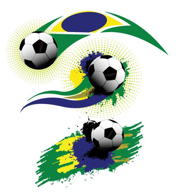 足球涂鸦元素