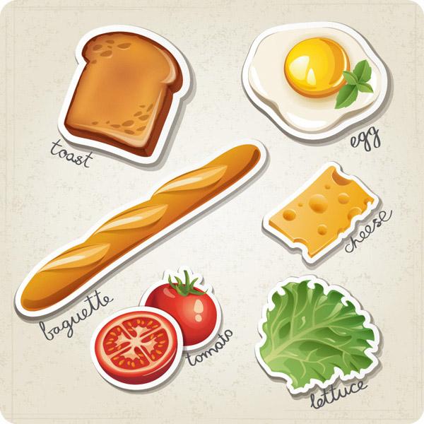 剪纸西式早餐