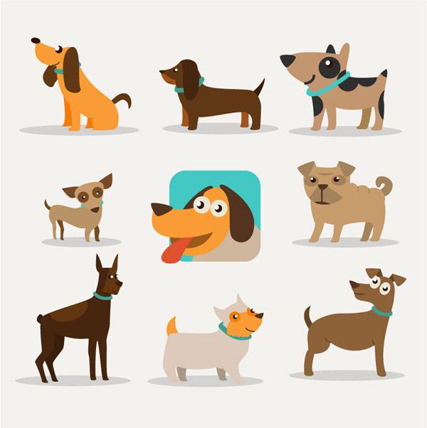 素材分类: 矢量卡通动物所需点数: 0 点 关键词: 9款卡通狗矢量素材